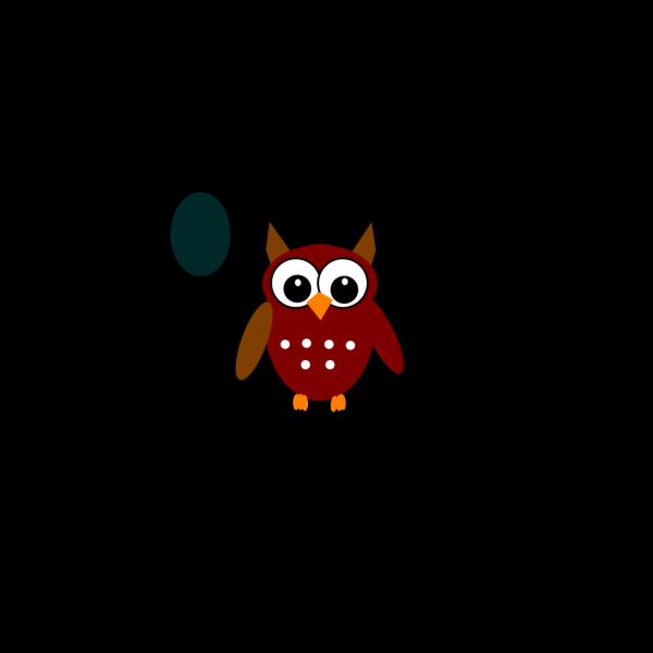 Brown Teal Owl PNG Clip art