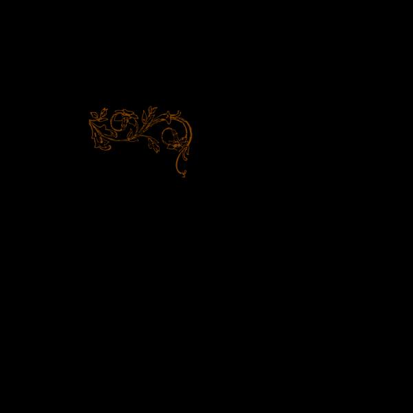 Brown Floral Vine PNG Clip art