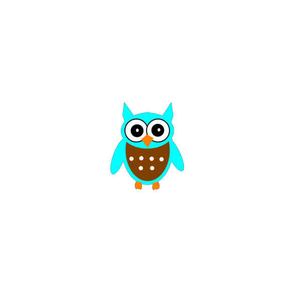 Turquoise Brown Owl PNG images