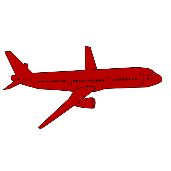 Blue Cartoon Airplane PNG images
