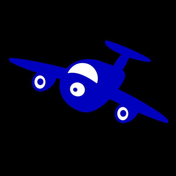 Blue Plane PNG Clip art