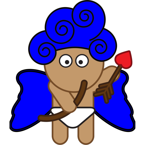 Blue Cupid PNG images