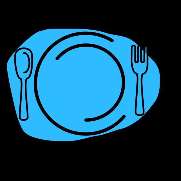 Blue Plate Cartoon PNG Clip art