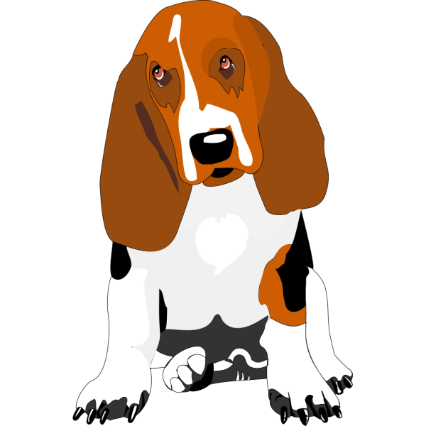 Cartoon Bassett Hound PNG Clip art