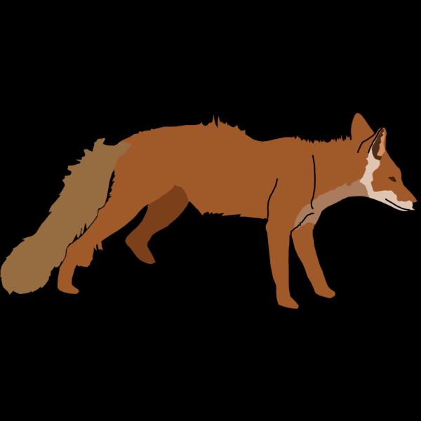 Standing Fox PNG Clip art