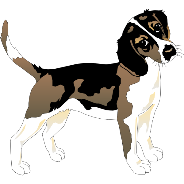 Black And White Beagle PNG Clip art