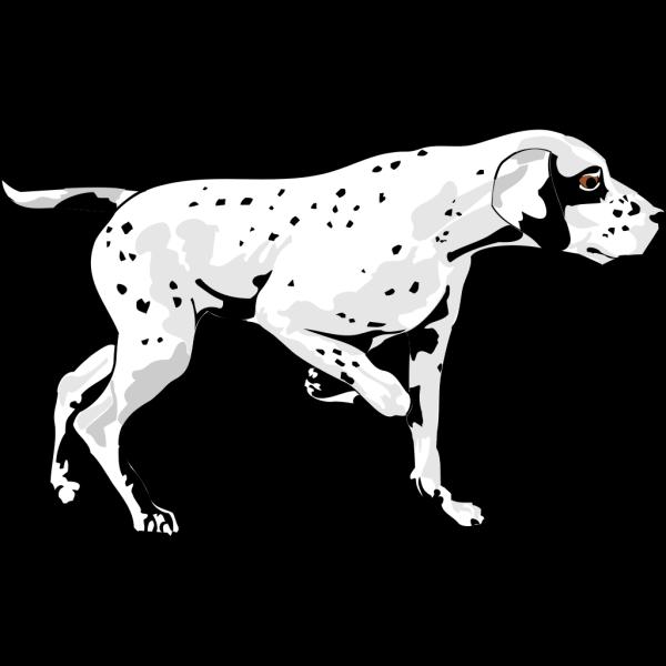 Walking Dalmation PNG Clip art