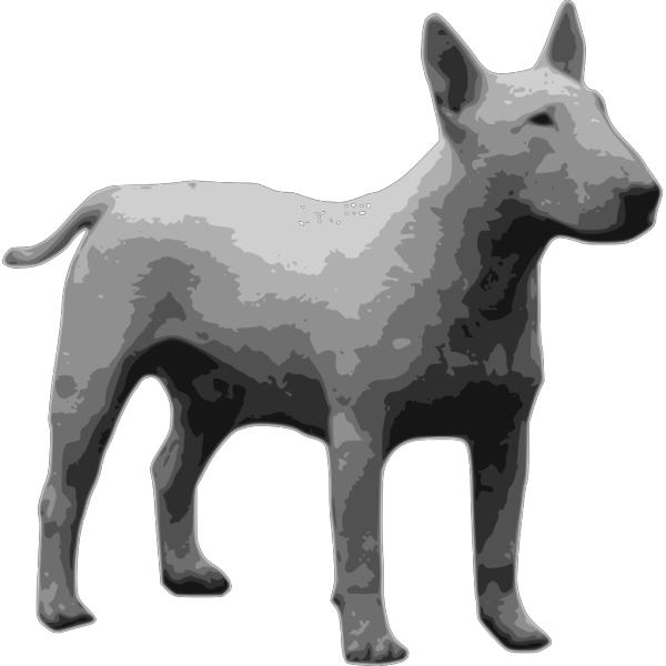 Bullterrier Grayscale PNG Clip art