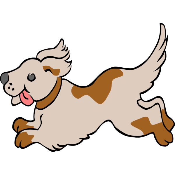 Happy Running Puppy PNG Clip art
