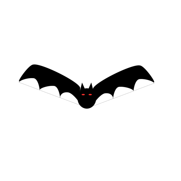 Flying Black Bat PNG Clip art