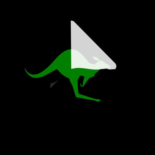 Kangaroo Green PNG Clip art