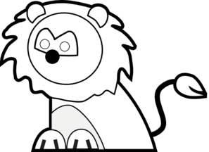 Black And White Lion PNG Clip art