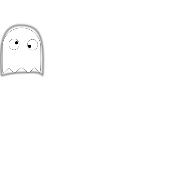 Black And White Ghost PNG images