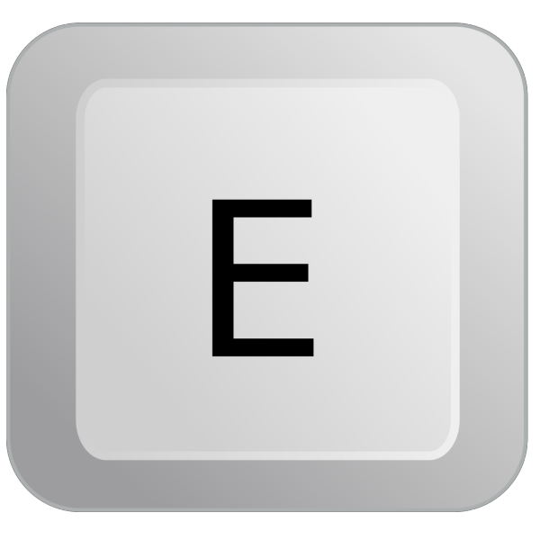 E Keyboard Button PNG images