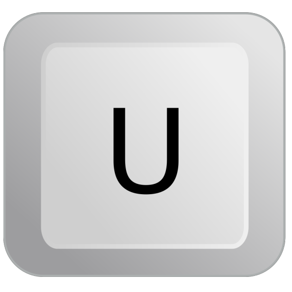 U Keyboard Button PNG Clip art