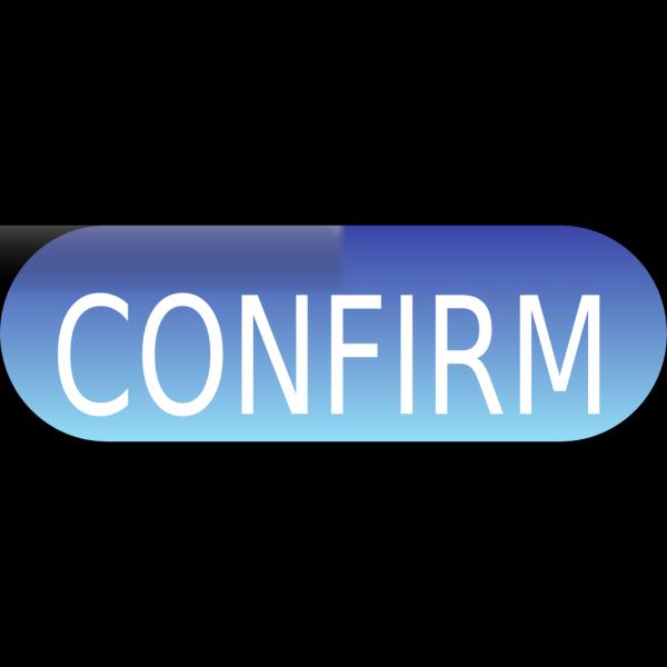 Confirm Button Blue PNG Clip art