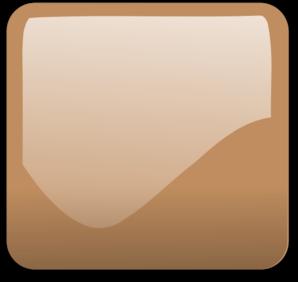 Dark Orange Pastel Glossy Button Blank PNG Clip art