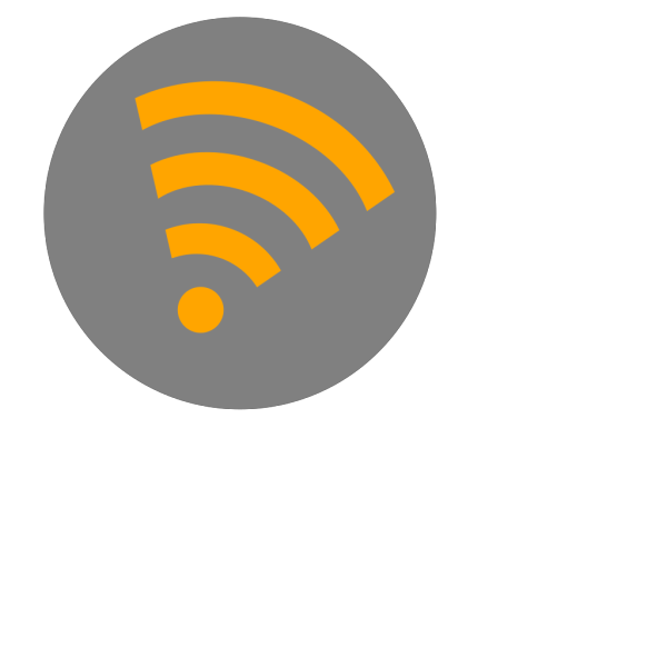 Wifi Orange Right PNG images