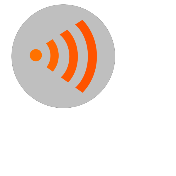 Wifi Orange Right PNG Clip art