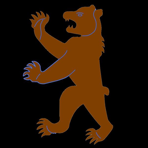 Big Brown Bear PNG Clip art