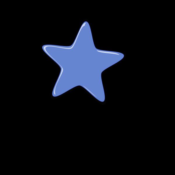 Blue Cartoon Star PNG Clip art