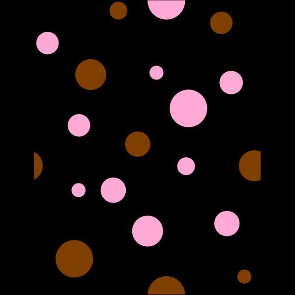 Brown & Pink Polka Dots PNG Clip art