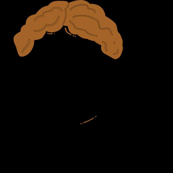 Light Brown Guy Wig PNG Clip art