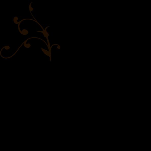 Brown Flourish PNG Clip art