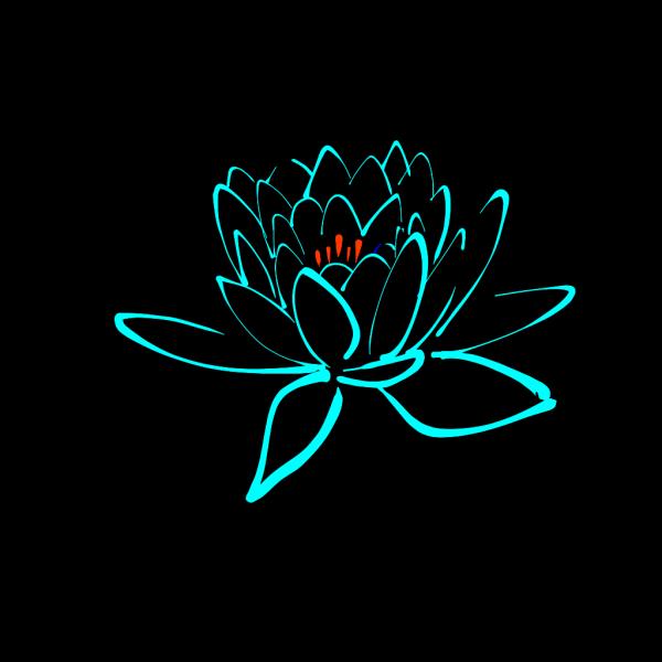Blue-orange Lotus PNG Clip art
