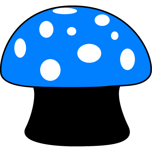 Blue Mushroom PNG Clip art