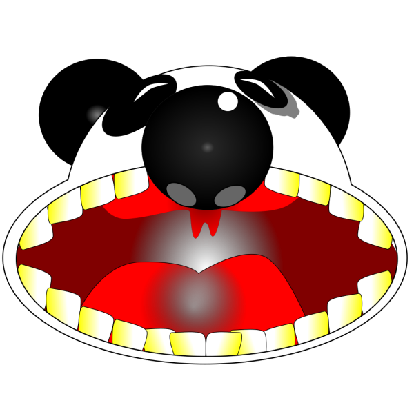 Wide Open Panda Mouth PNG Clip art
