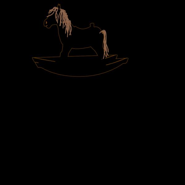 Rocking Horse Outline 2 PNG Clip art