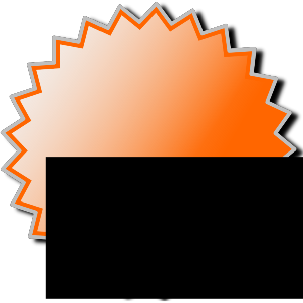 Noonespillow Basic Starburst Badge PNG Clip art