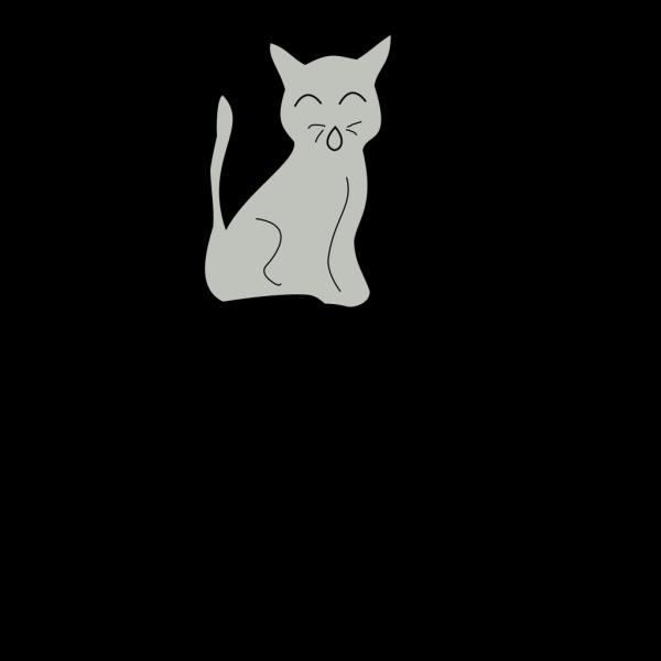 Grey Cat PNG Clip art