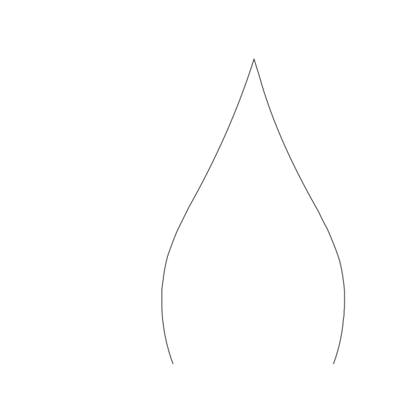 Big Black Five Petal Flower PNG Clip art