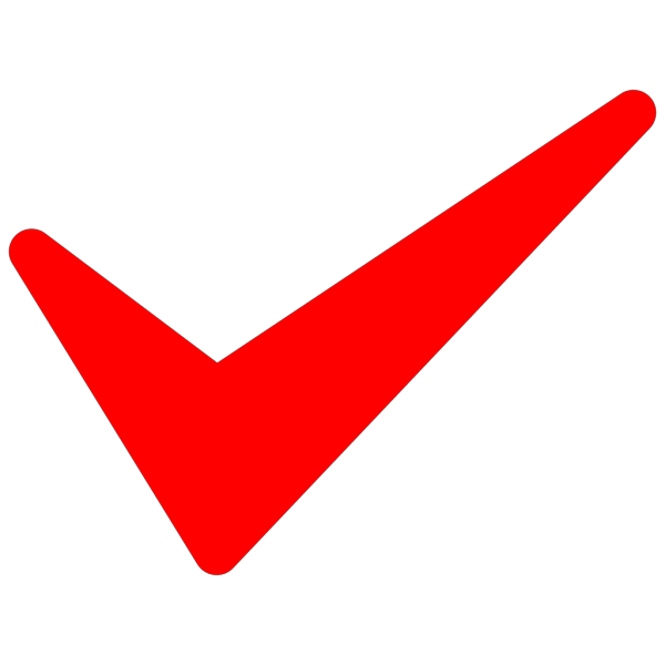 Red Tick Button PNG images