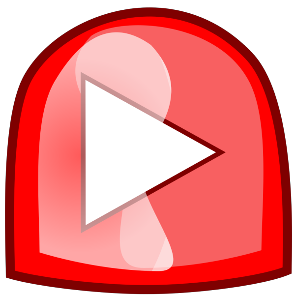 Red Play Button PNG Clip art
