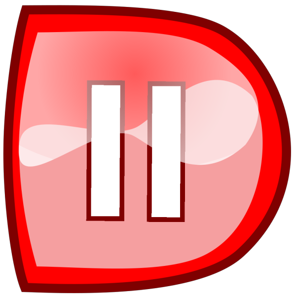 Red Pause Button PNG Clip art