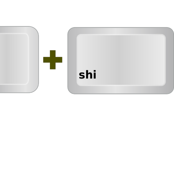 Ctrl+shift Buttons Reversed PNG Clip art