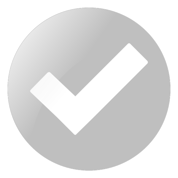 Simple Grey Check Button PNG Clip art