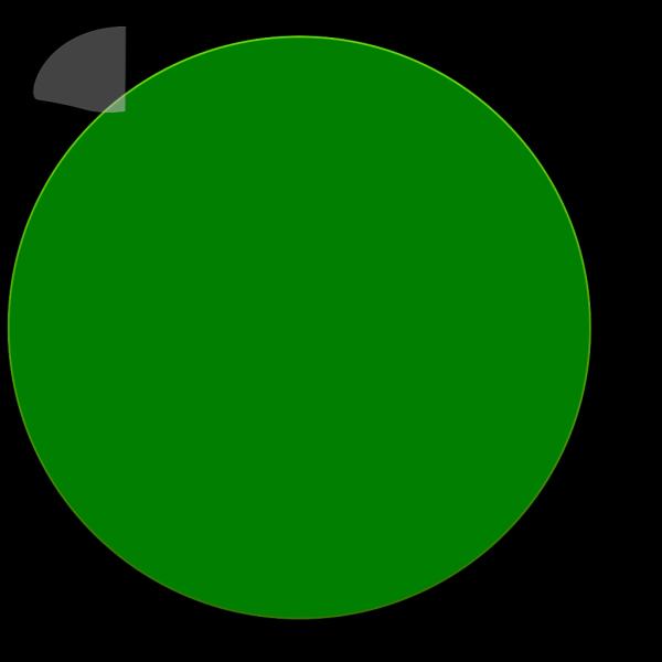 Green Glossy Circle PNG Clip art