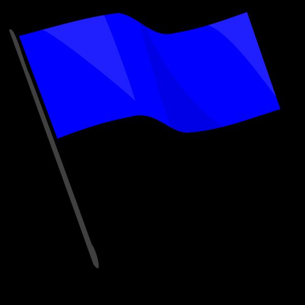 Capture The Flag Blue PNG Clip art