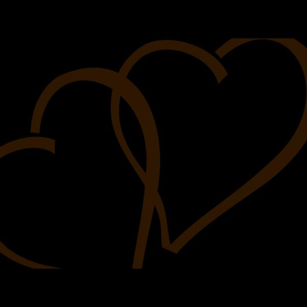Deep Brown Hearts Clip art