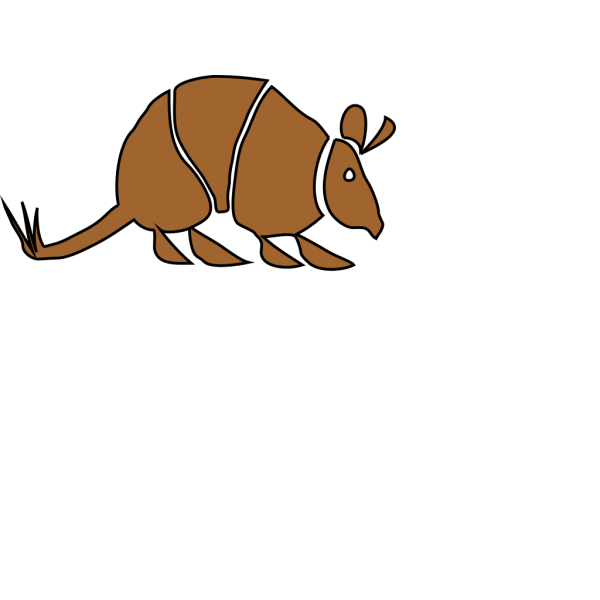 Brown Armadillo PNG images