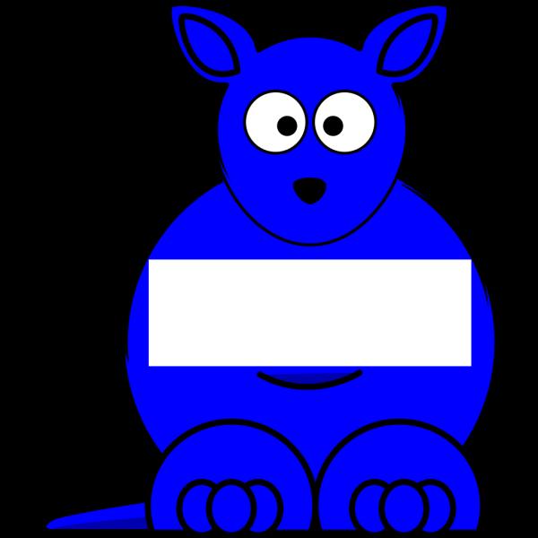 Blue  Sightword Kangaroo PNG Clip art