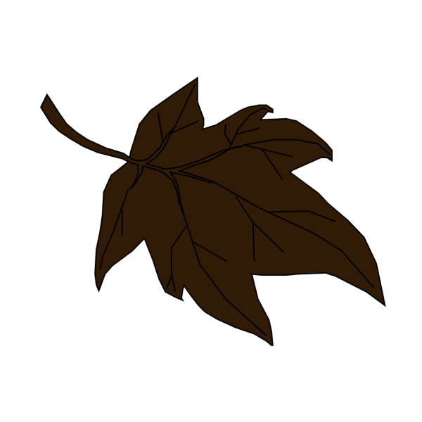 Dark Brown Autumn Leaf PNG Clip art