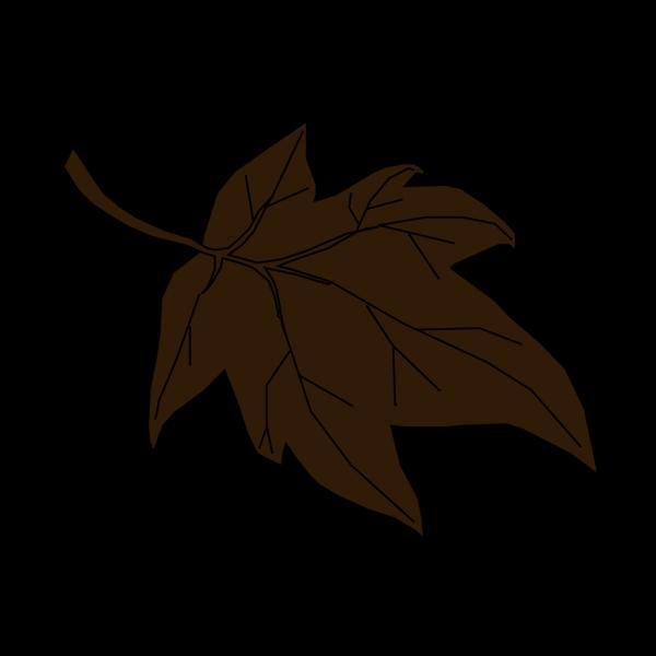 Dark Brown Autumn Leaf PNG Clip art