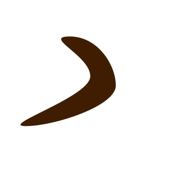 Brown Boomerang PNG Clip art