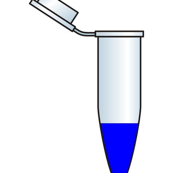 Eppendorf With Blue Solution PNG images