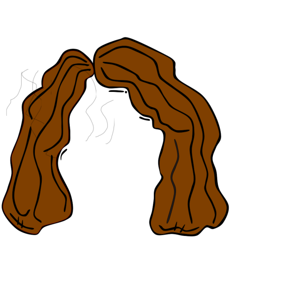 Brown Hair Outline PNG Clip art